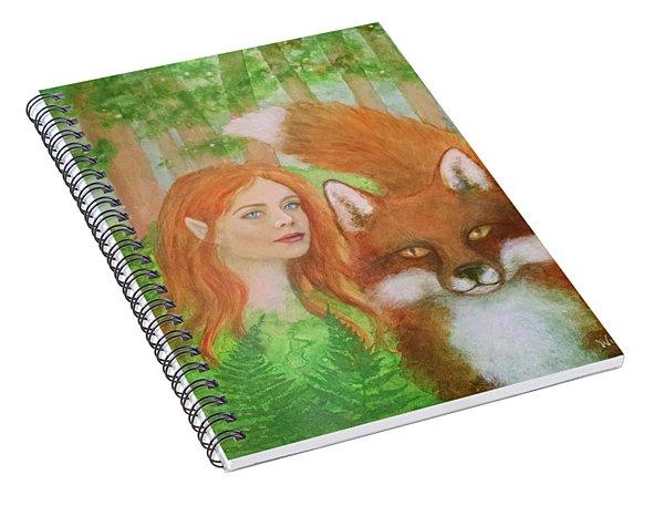 Foxy Faery Spiral Notebook