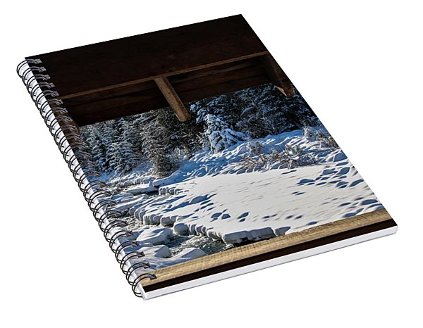 Framed Snow Spiral Notebook