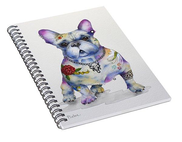 French Bulldog Ozzie Spiral Notebook