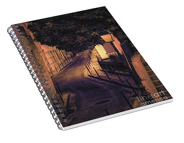 French Street Saint-louis Island Paint  Spiral Notebook