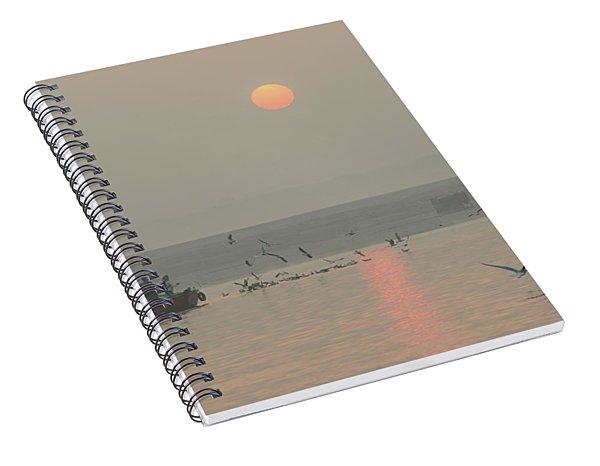 Ganga Sunrise 01 Spiral Notebook