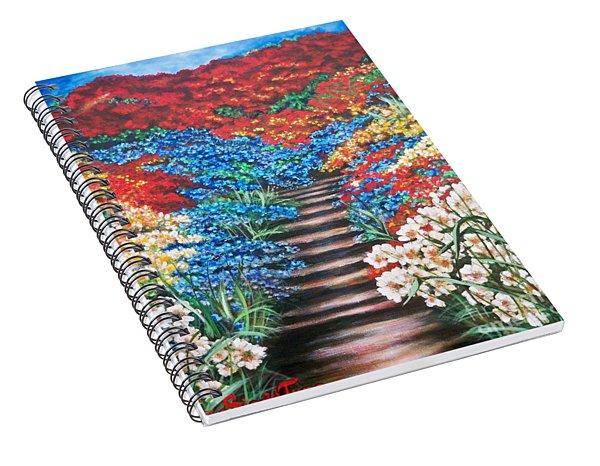 Flying Lamb Productions              Redwhiteandblue   Garden Cascade Spiral Notebook