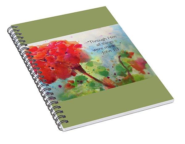 Geranium Praises Spiral Notebook