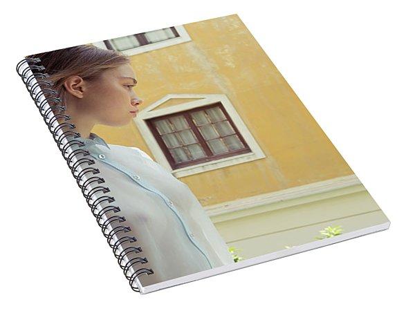 Girl In Profile Spiral Notebook