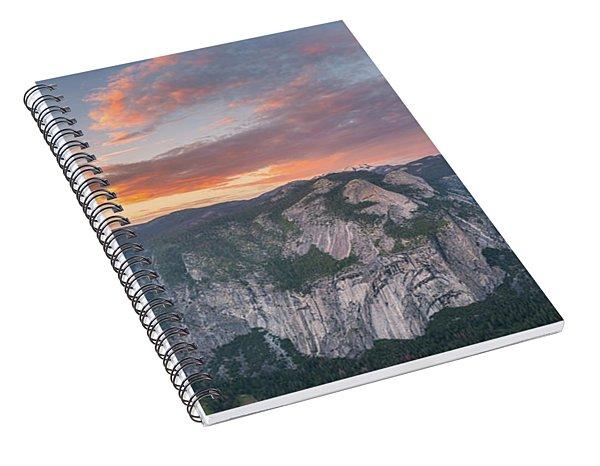 Glacier Point Sunset Spiral Notebook