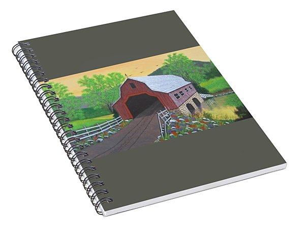 Glenda's Covered Bridge Spiral Notebook