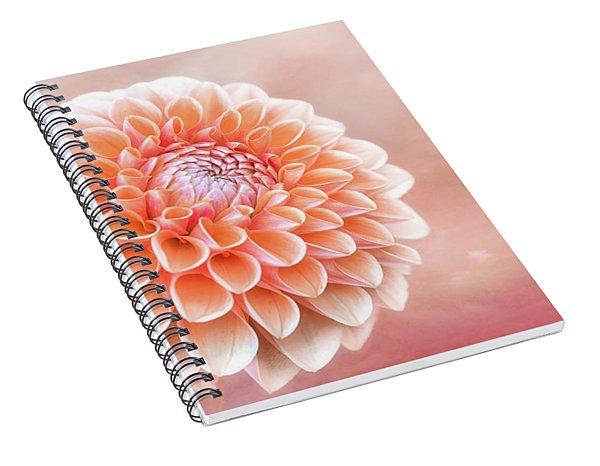 Glorious Salmon Dahlia Spiral Notebook