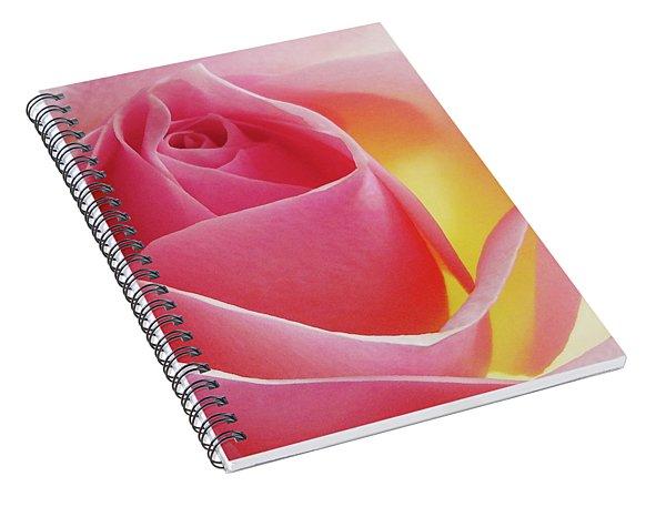 Glowing Pink Rose Spiral Notebook