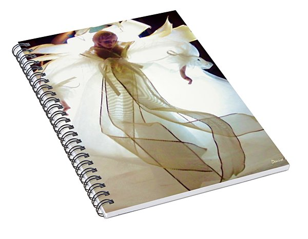 Gold And White Angel Spiral Notebook