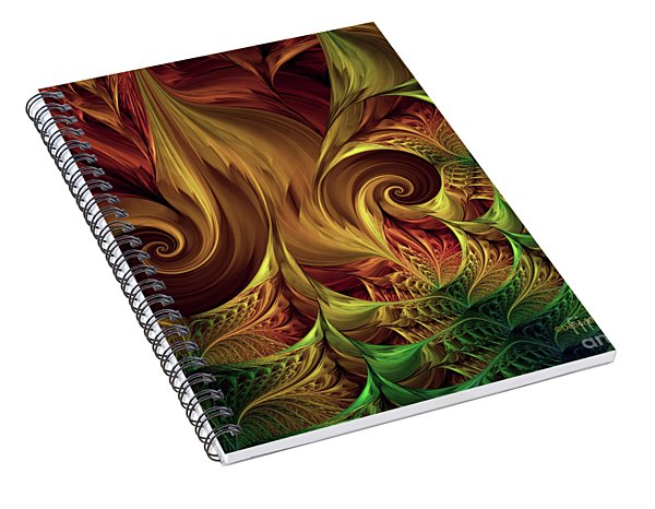 Gold Curl Spiral Notebook