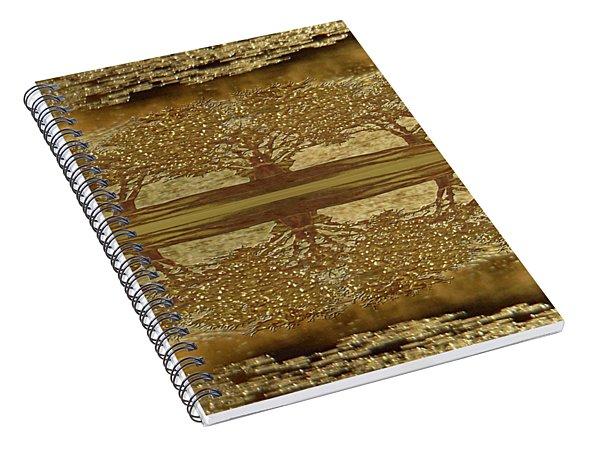 Golden Trees Reflection Spiral Notebook