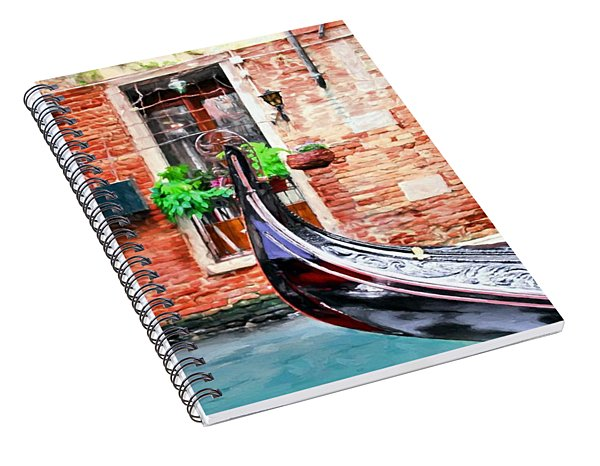 Gondola In Venice Spiral Notebook