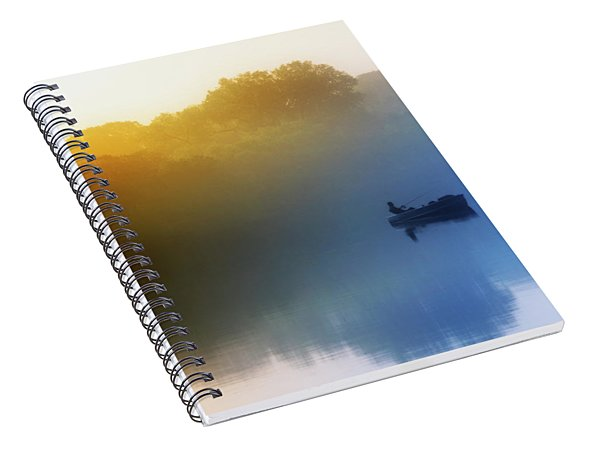 Spiral Notebook featuring the photograph Gone Fishing by Scott Kemper