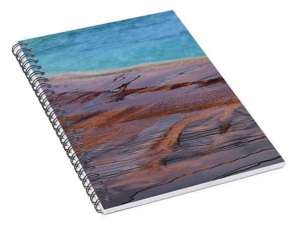 Grand Prismatic Spring Detail Spiral Notebook