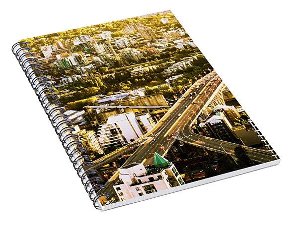 Granville Street Bridge Vancouver British Columbia Spiral Notebook