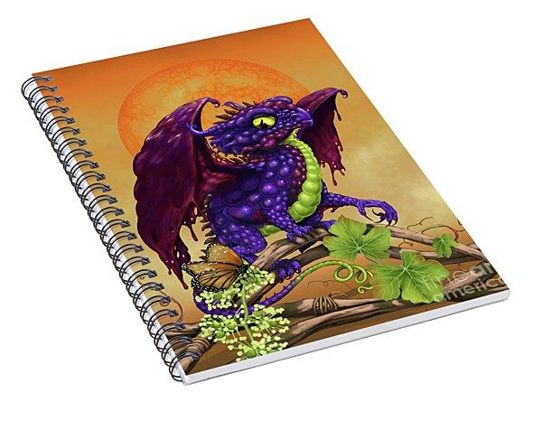 Grape Jelly Dragon Spiral Notebook