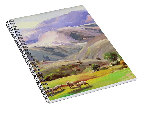 Grazing In The Salmon River Mountains Spiral Notebook