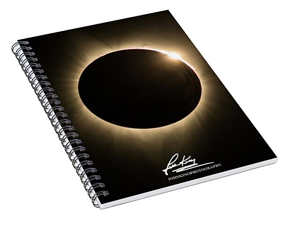 Spiral Notebook featuring the photograph Great American Eclipse 16x9 Totality Square As Seen In Albany, Oregon Signature Edition. by John King