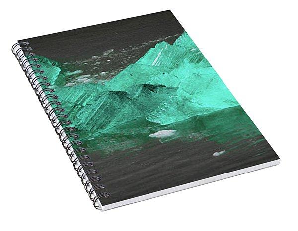 Green Iceberg Spiral Notebook