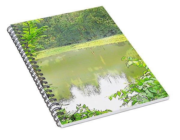 Green On Lake Spiral Notebook