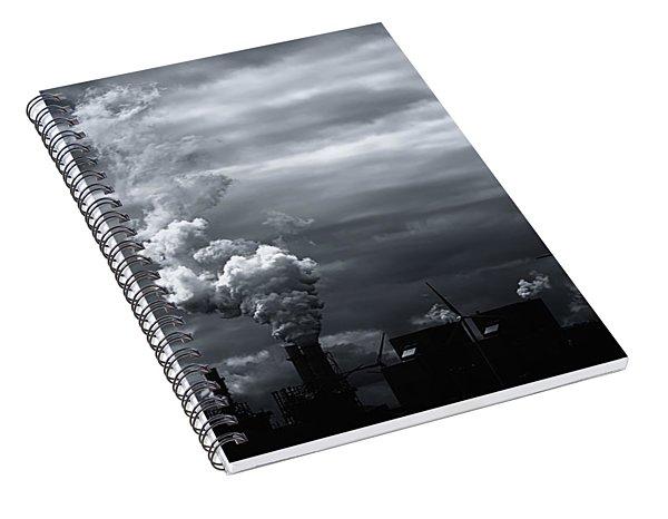 Grim Black White Energy Landscape Spiral Notebook