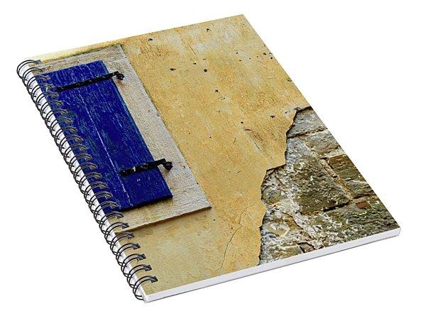 Groznjan Istrian Hill Town Stonework And Blue Shutters  - Istria, Croatia Spiral Notebook