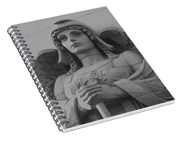 Guardian Angel On Watch Spiral Notebook