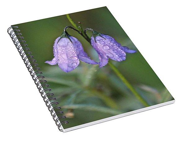Hairbells After The Rain Spiral Notebook