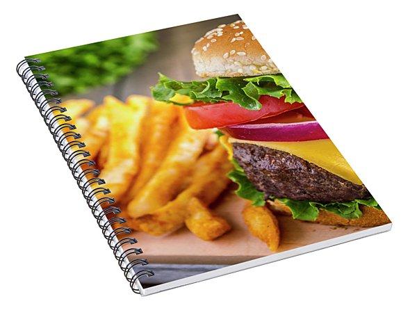 Hamburger And Fries Spiral Notebook