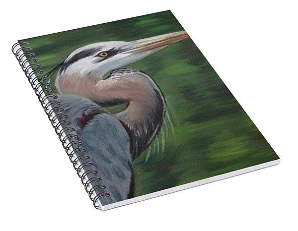 Handsome Heron Spiral Notebook