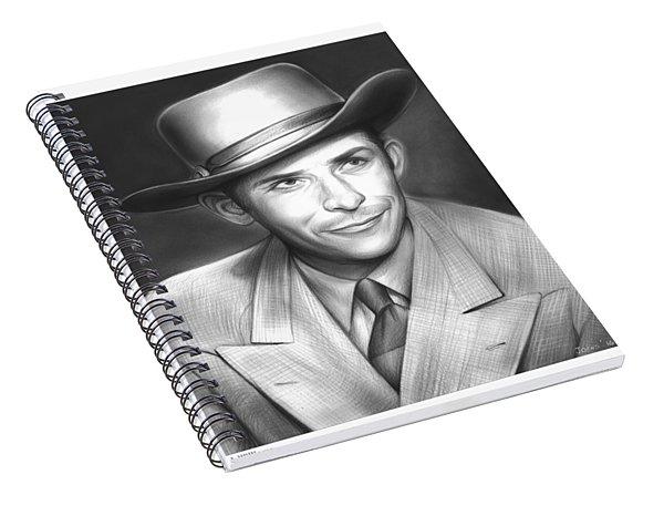 Hank Williams Spiral Notebook