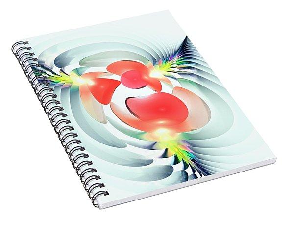 Spiral Notebook featuring the digital art Happy Cutouts by Anastasiya Malakhova