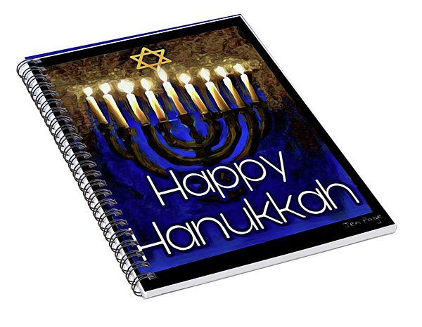 Happy Hanukkah Spiral Notebook