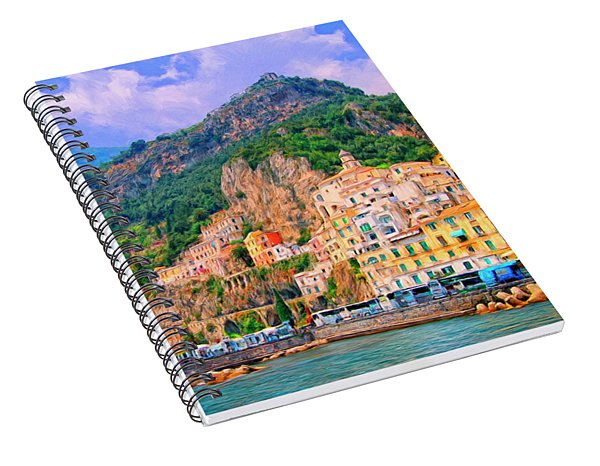Harbor At Amalfi Spiral Notebook