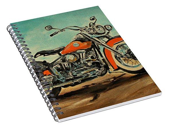 Harley Davidson 1956 Flh Spiral Notebook