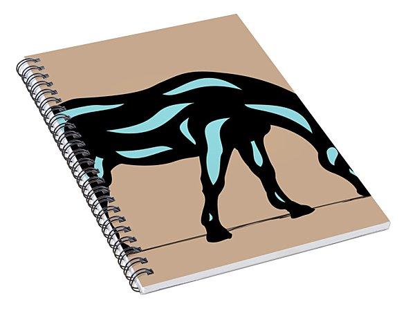 Hazel - Pop Art Horse - Black, Island Paradise Blue, Hazelnut Spiral Notebook