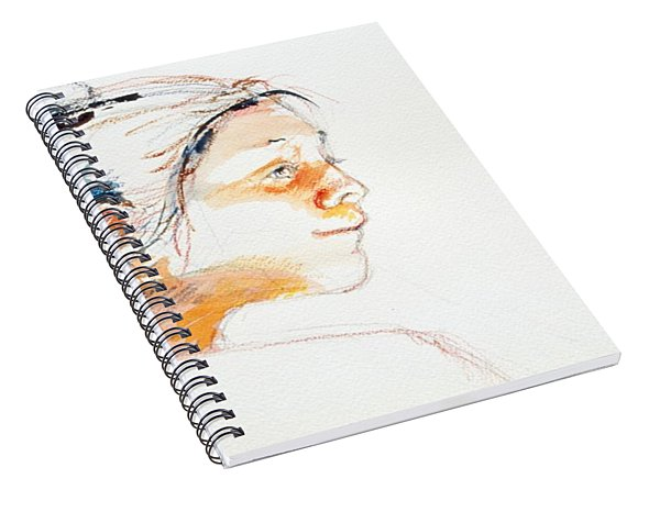 Head Study 9 Spiral Notebook