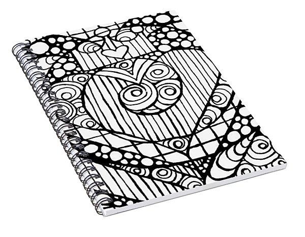 Heart Crown Tangle Spiral Notebook