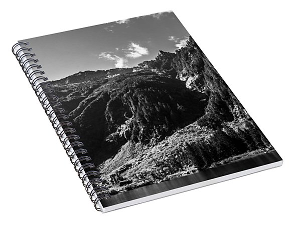 Heather Lake Black And White Spiral Notebook