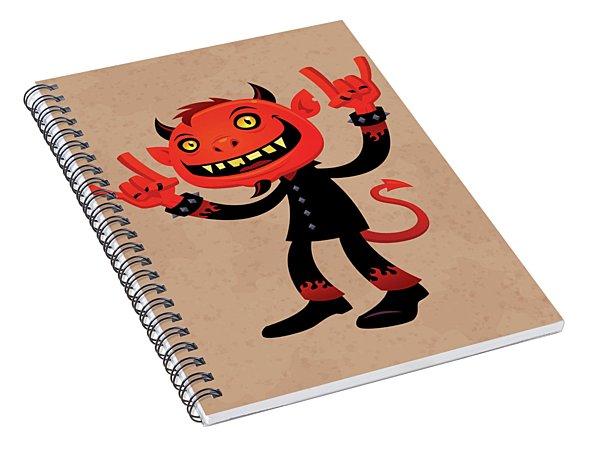 Heavy Metal Devil Spiral Notebook