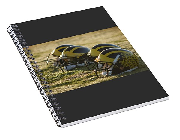 Helmets On The Field At Dawn Spiral Notebook