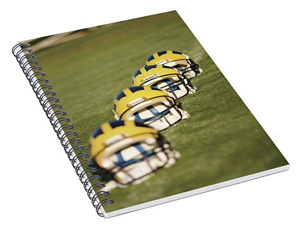 Helmets On Yard Line Spiral Notebook