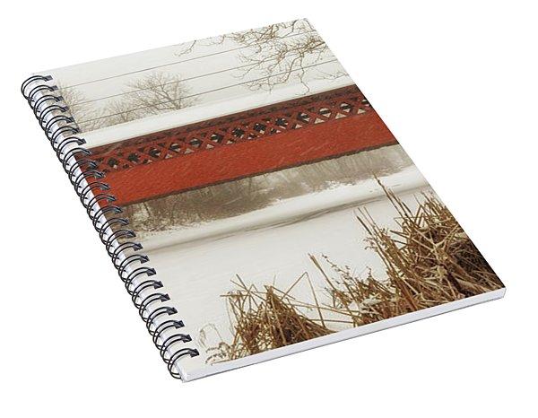 Henry Covered Bridge In Winter Spiral Notebook