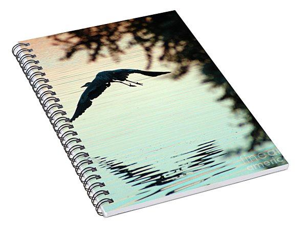 Heron At Dusk Spiral Notebook
