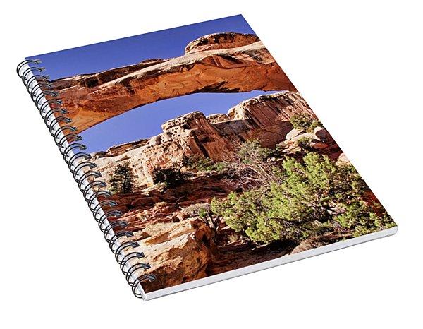 Spiral Notebook featuring the photograph Hickman Bridge by Scott Kemper