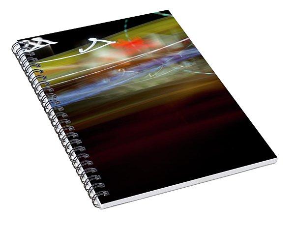 Highway Lights Spiral Notebook