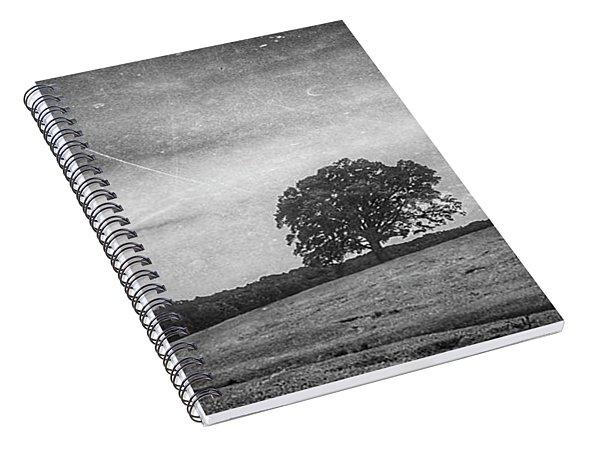 Hillside Tree 5 Bw Spiral Notebook