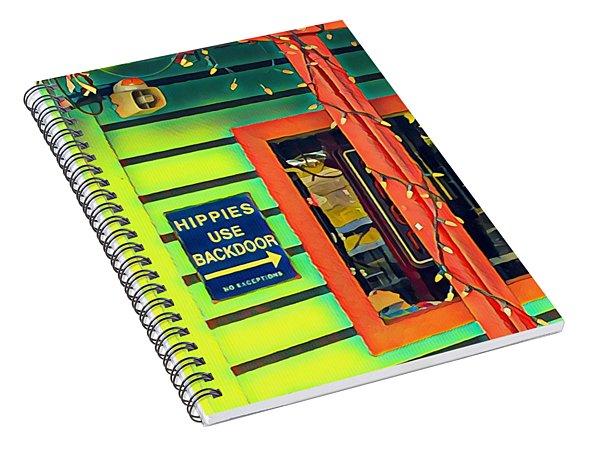 Hippies Use Backdoor Spiral Notebook