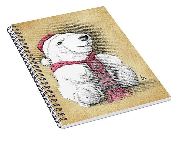 Holiday Bear Card Spiral Notebook
