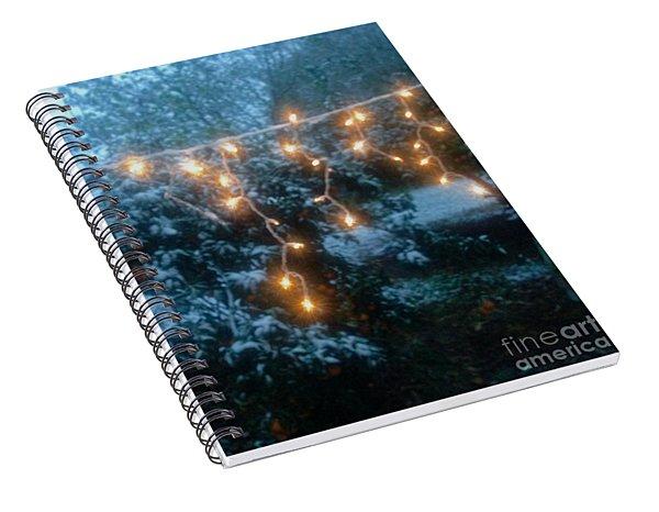 Holiday Blue Spiral Notebook